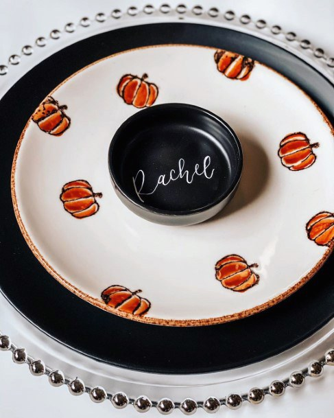 Cute Pumpkin Table Settings Decor Fall Wedding Ideas