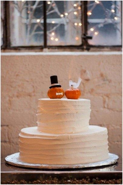 Cute Pumpkins Rustic Wedding Cake Toppers