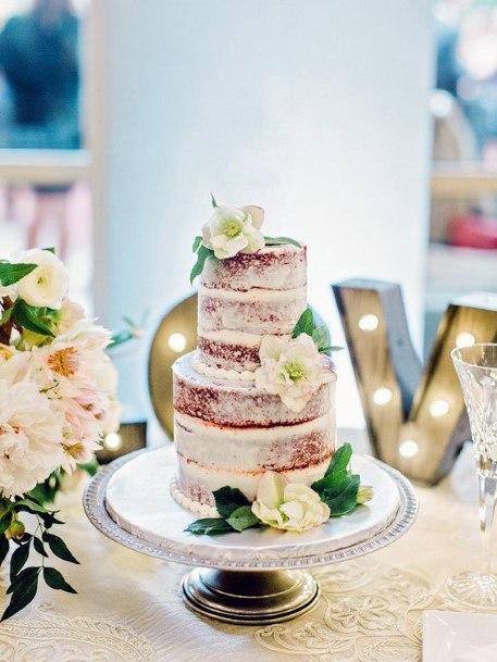 Cute Red Velvet Wedding Cake