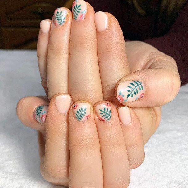 Cute Tropical Nails Women