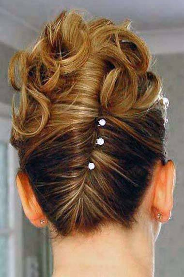 Cute Wedding French Twist With Curls For Women And Girls