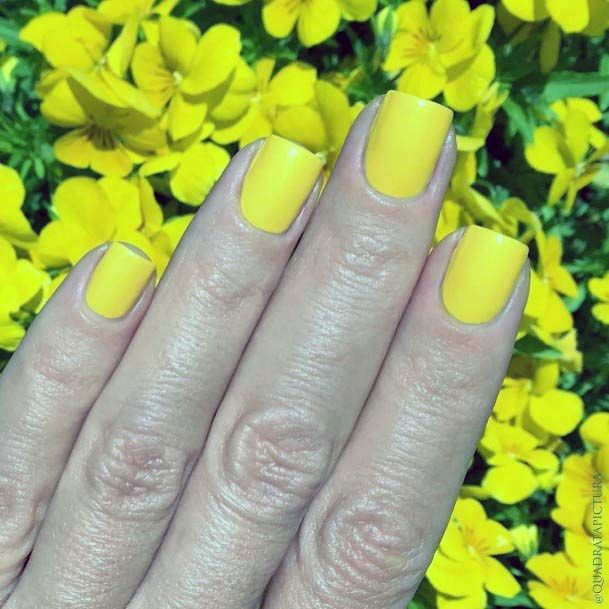 Daffodil Bright Yellow Nails For Women