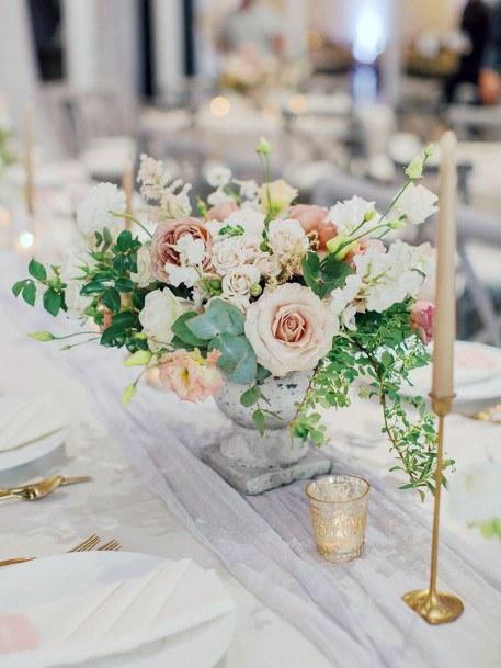 Dainty Blush Wedding Flowers Display