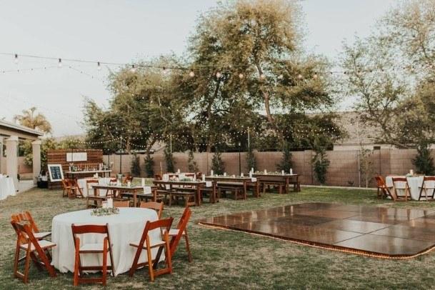 Dance Floor Backyard Wedding Ideasq