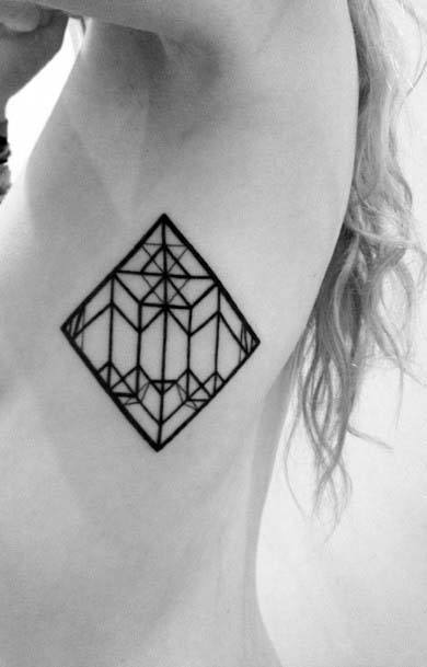 Dark Black Window Art Frame Geometric Tattoo