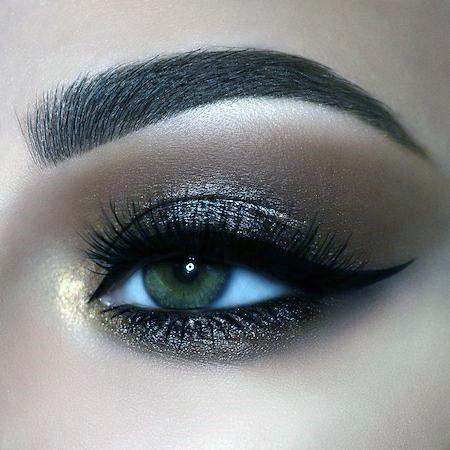 Dark Brown Eyeshadow Women
