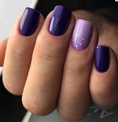 Dark Lavendar Colored Nails