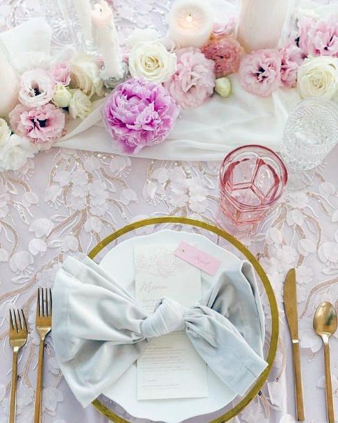 Darling Blush Flowers Wedding Table Decor