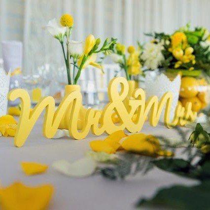 Dazzling Yellow Wedding Flowers