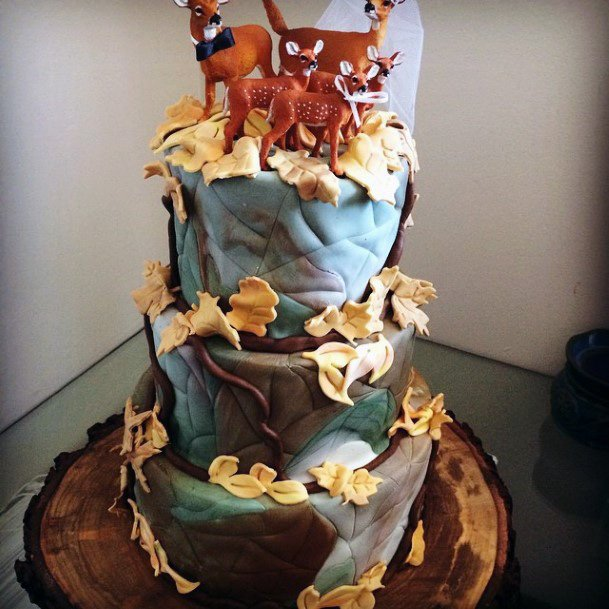 Deer Family Toppers Camo Wedding Cakes