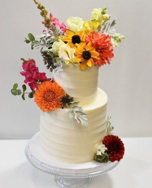 Delectable Buttercream Wedding Cake