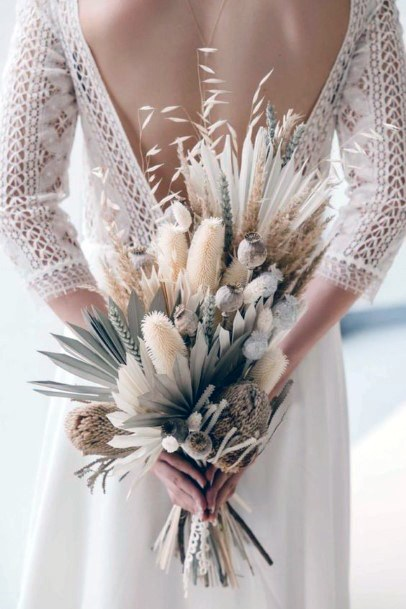 Delicate And White Boho Wedding Flowers