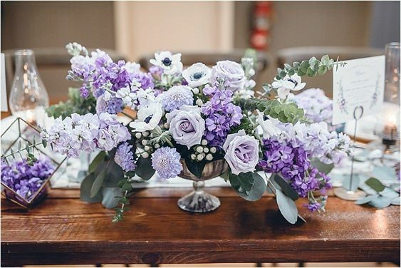 Delicate Lavender Roses Wedding Flowers