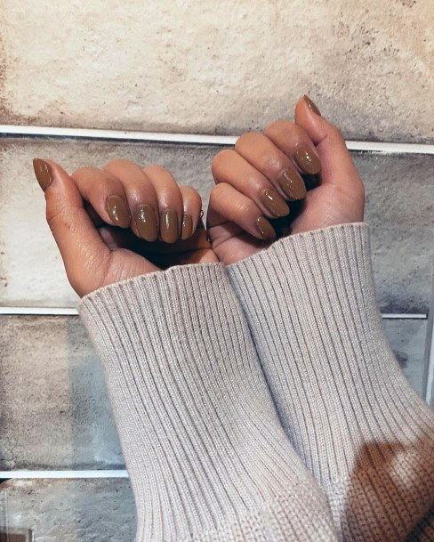 Delicious Chocolate Colored Nails Women