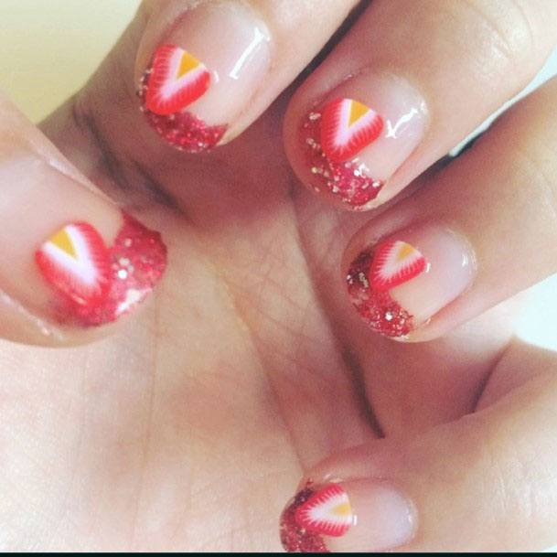 Delicious Trendy Strawberry Nails For Ladies