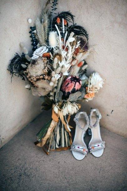 Delightful Bunch Of Flowers Boho Wedding