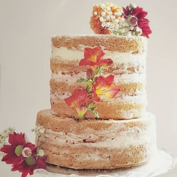 Delightful Flowers Rustic Wedding Cake Toppers