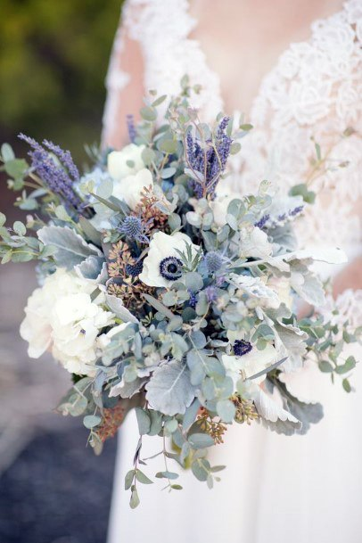 Delightful Lavender Flowers Bouquet Wedding