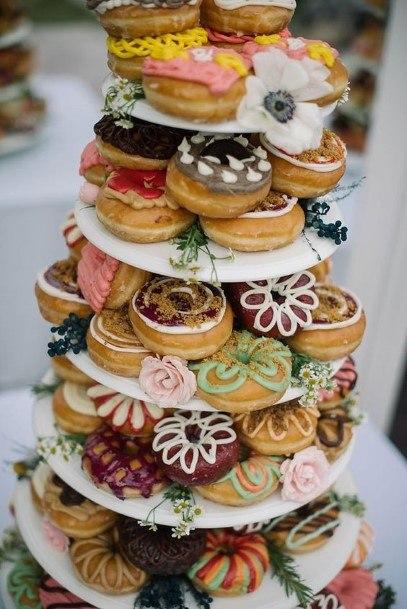 Designer Donut Wedding Cake