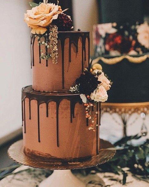 Desirable Chocolate Wedding Cake