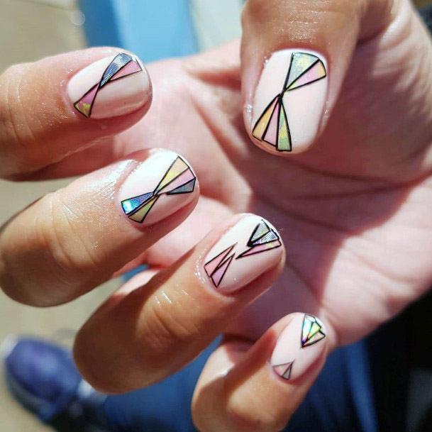 Diamond Caricature Short Nails Women