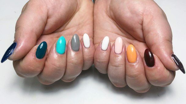 Different Colored Nails