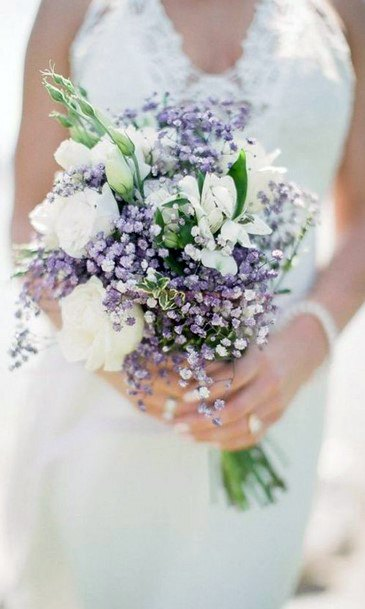 Distinctive Lavender Flowers Wedding