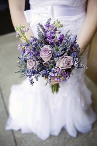 Divine Lavender Flowers Bouquet Wedding Arrangement