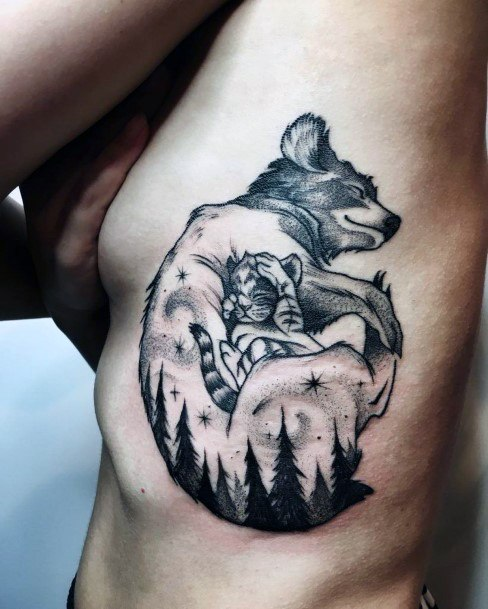 Dog Love Tattoo Womens Torso