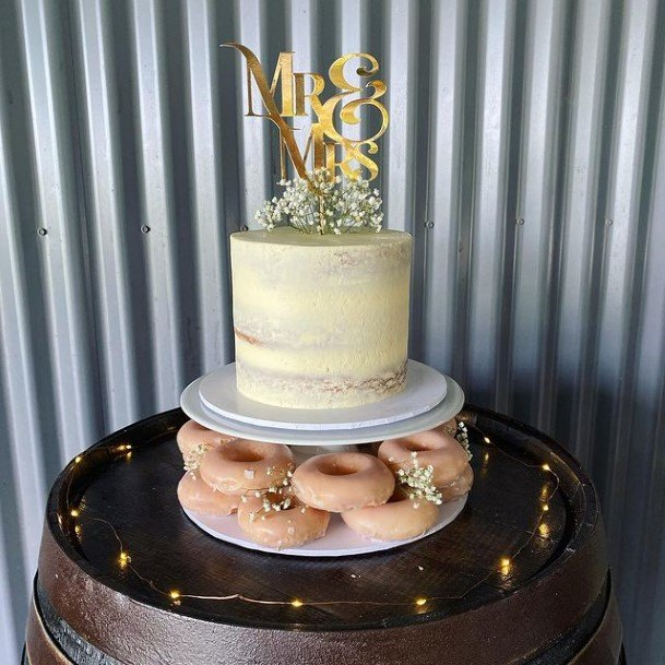 Donut And Wedding Cake