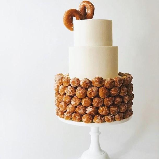 Donut Balls And Pristine Wedding Cake