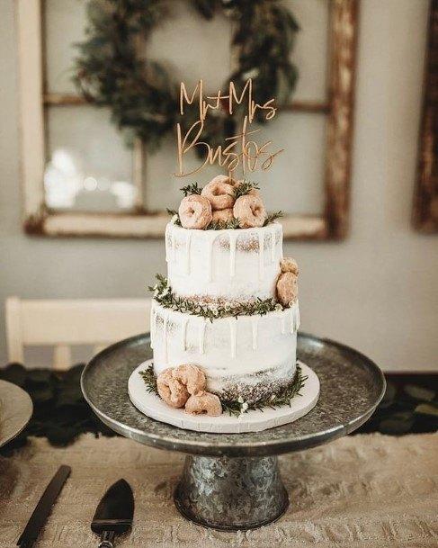 Donut Decorated Wedding Cake