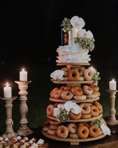 Donut Scrumptious Wedding Cake