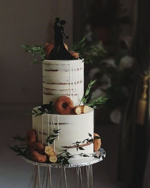 Donut White Wedding Cake