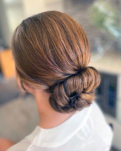 Doughnut Chignon Hairstyle Women