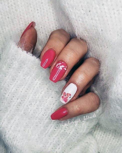 Dreamy Coral Pink Flamingo Nails Women
