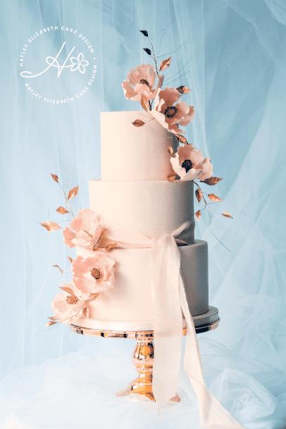 Dreamy Cream Pink Elegant Wedding Cakes Women