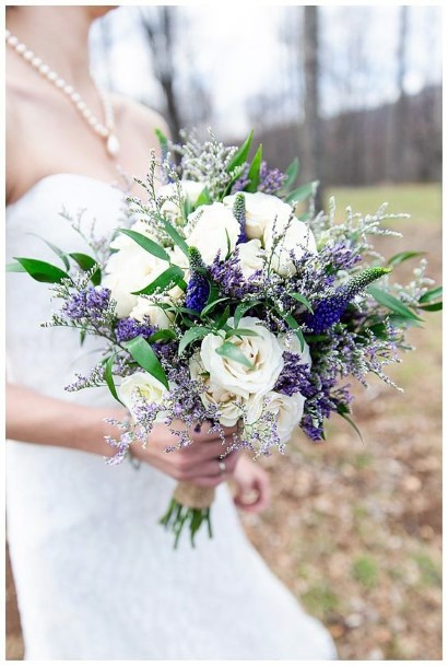 Dreamy White And Lavender Wedding Flowers
