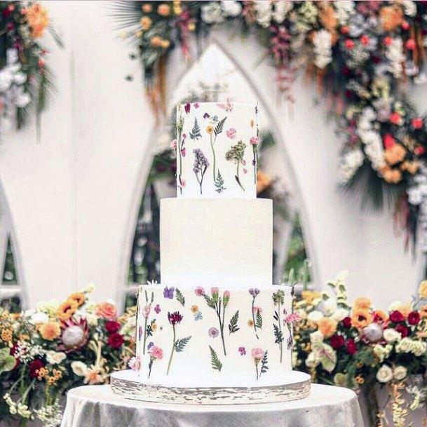 Dreamy White Unique Wedding Cake