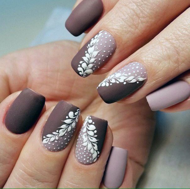 Dual Shaded Brown Nails Matte For Women