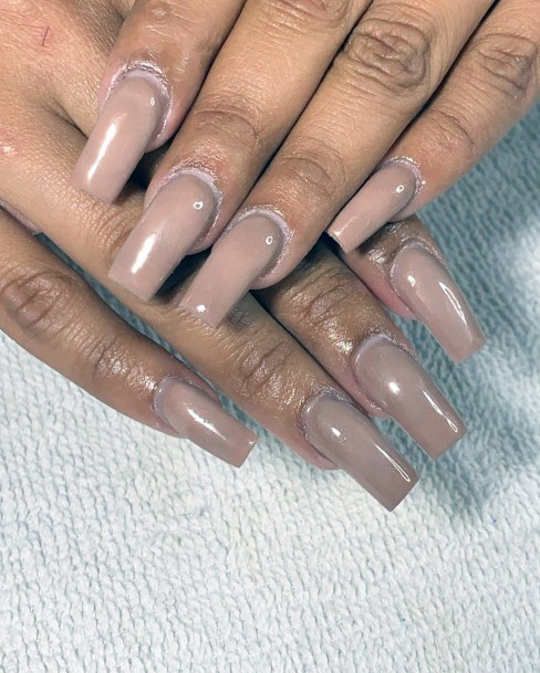 Dull Brown Nails Women