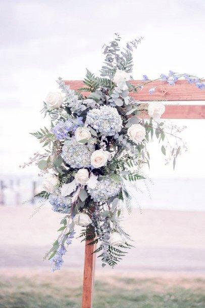 Dusty Blue Hydrangea Wedding Flowers