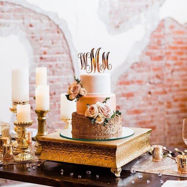 Earthy Toned Beautiful Wedding Cakes