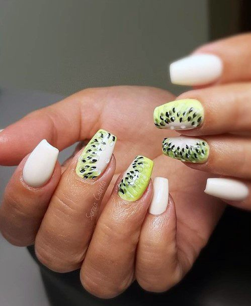 Edged Nails White Kiwi Art