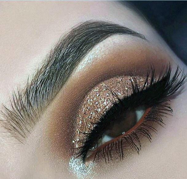 Egyptian Goddess Gold And Brown Eyeshadow Women