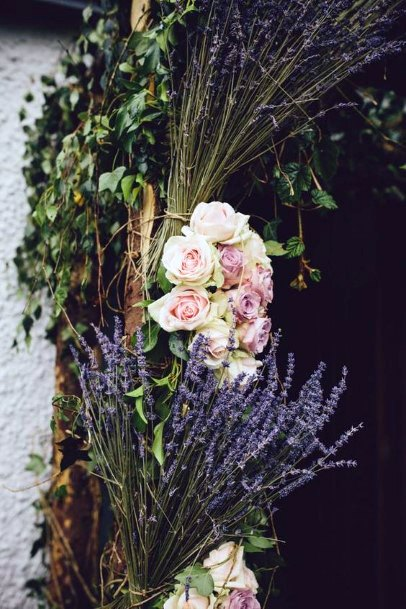 Elegant Lavender Flowers Wedding