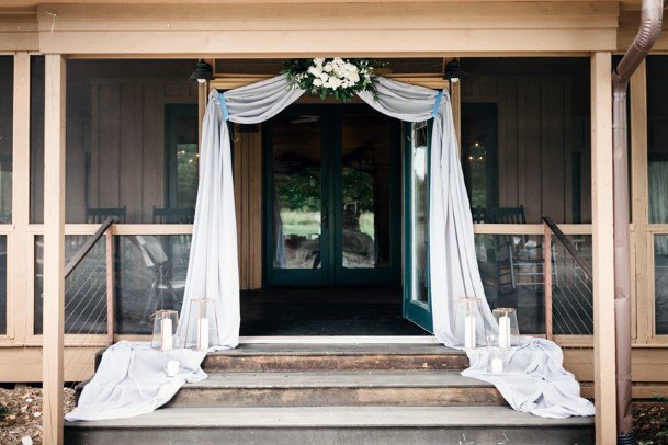 Elegant Porch Arch Decor Backyard Wedding Ideas