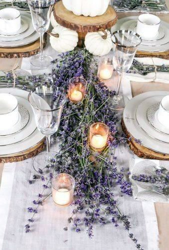 Enchanting Lavender Flowers Wedding Table Decor