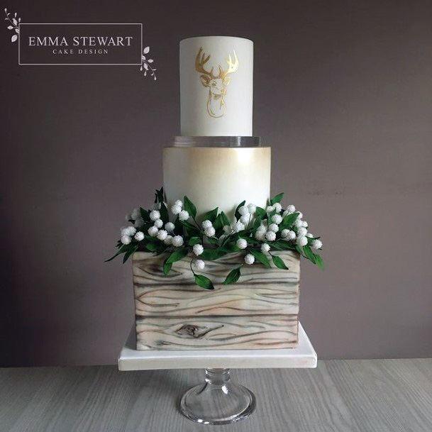 Enchanting Square Wedding Cake
