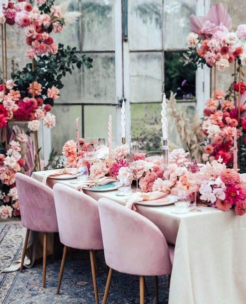 Ethereal Pink Wedding Flowers
